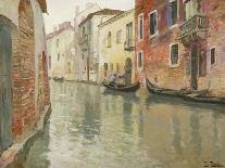 A Venetian Backwater-Fritz Thaulow-Mounted Premium Giclee Print