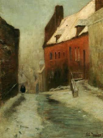 A Winter Street Scene, Montreuil