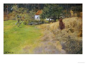 Haymaking, 1889 by Fritz Thaulow