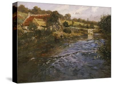 River Landscape with a Washerwoman