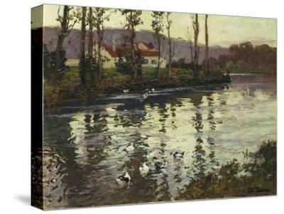 River Landscape with Ducks