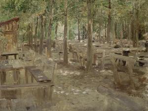 Biergarten in Dachau, 1888 by Fritz von Uhde