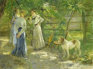 Die Töchter im Garten. 1906 by Fritz von Uhde