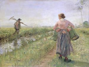 In the Morning, 1889 by Fritz von Uhde