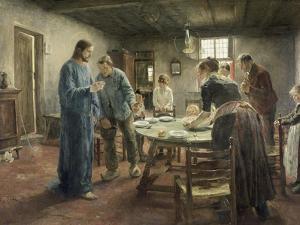 Komm Herr Jesu, Sei Unser Gast, 1885 by Fritz von Uhde
