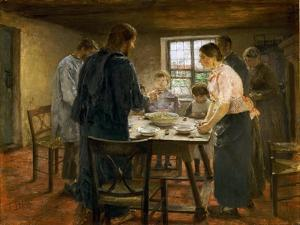 Le Christ chez les paysans-Christ in a farmers home by Fritz von Uhde