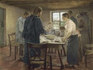 Le Christ chez les paysans by Fritz von Uhde