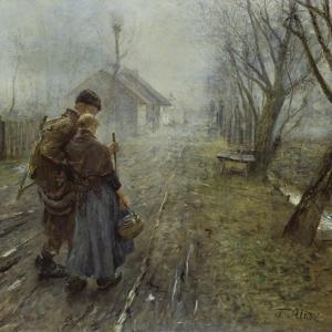Schwerer Gang (Der Gang Nach Bethlehem), um 1890 by Fritz von Uhde