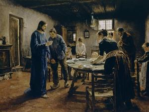 The Mealtime Prayer, 1885 by Fritz von Uhde