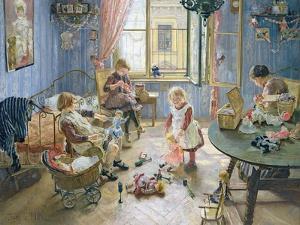 The Nursery, 1889 by Fritz von Uhde