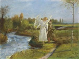 Tobias and the Angel, 1902 by Fritz von Uhde