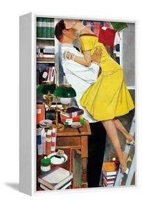 """Late in Love - Saturday Evening Post """"Leading Ladies"""", November 22, 1958 pg.30 by Fritz Willis"""