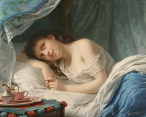 A Reclining Beauty by Fritz Zuber-Buhler