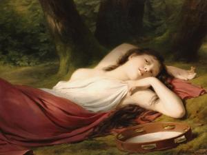 The Daydream by Fritz Zuber-Buhler