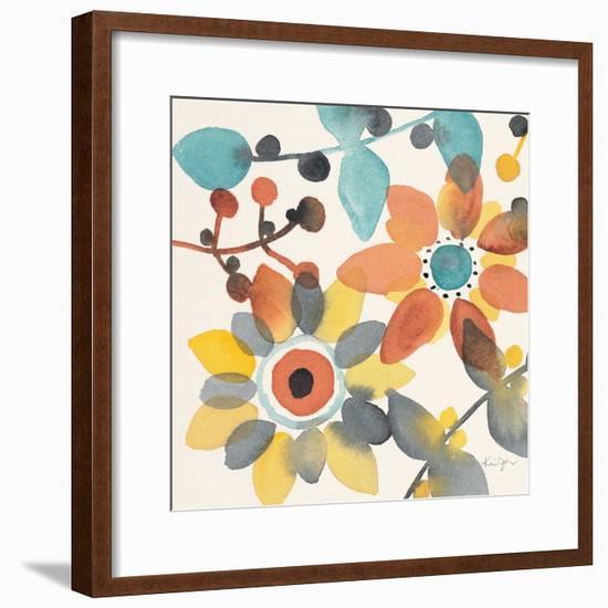 Frivolous Florals 1-Karin Johannesson-Framed Premium Giclee Print