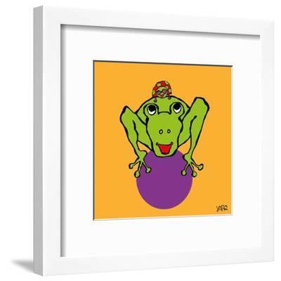 Frog and Ladybug-Yaro-Framed Art Print