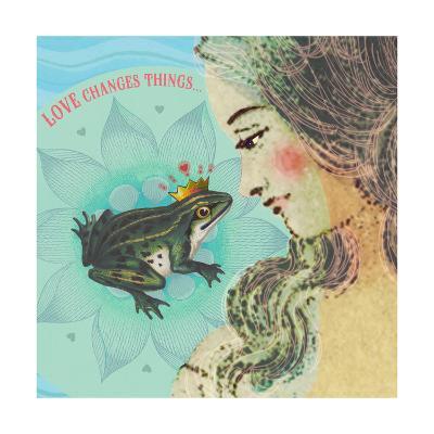 Frog and Princess Love--Art Print