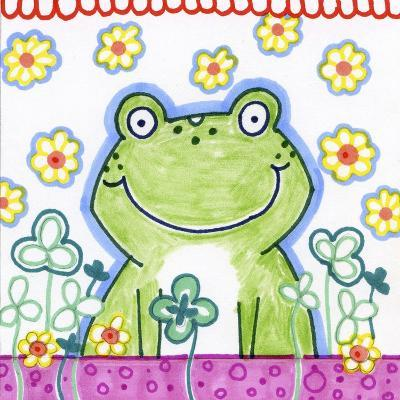 Frog In Clover-Valarie Wade-Giclee Print