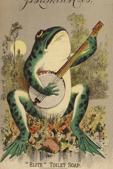 Frog Playing Banjo--Giclee Print