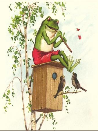 Frog Playing Flute