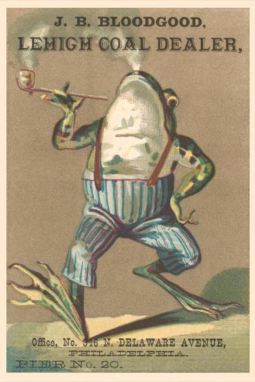 Frog Smoking Pipe--Art Print