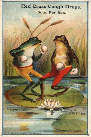 Frog Versus Toad Red Cross Cough Drops Advertisement