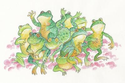 Frogs-Bill Bell-Giclee Print