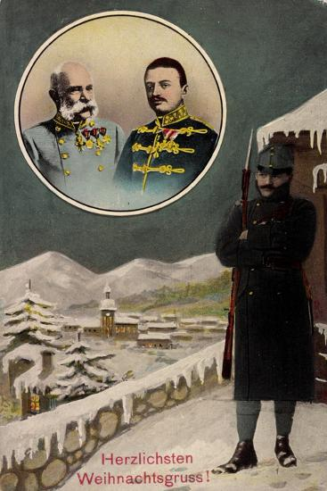 Frohe Weihnachten, Kaiser Franz Josef I, Wache--Giclee Print