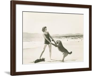 Frolicking on the Beach--Framed Photo