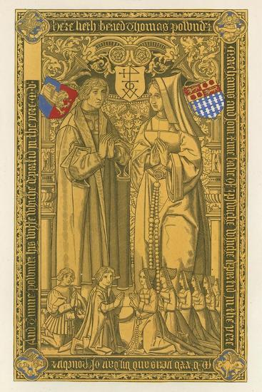 From a Brass, in the Church of St Mary Key Ipswich, 1525-Henry Shaw-Giclee Print