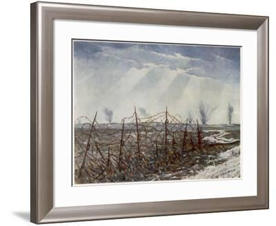 From a Front Line Trench, British Artists at the Front, Continuation of the Western Front, 1918-Christopher Richard Wynne Nevinson-Framed Giclee Print
