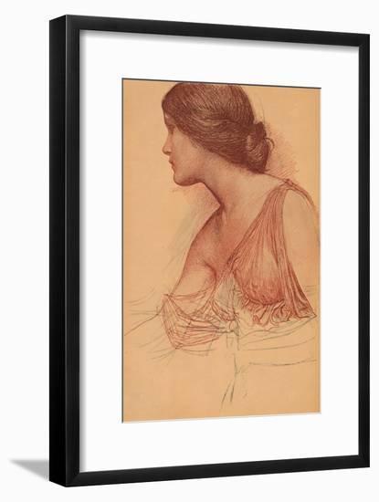 'From a study in sanguine', c1899-John William Waterhouse-Framed Art Print