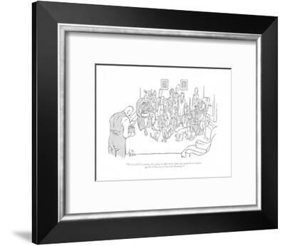 """""""From all I've heard, it's going to take more than any snapshot to soften ?"""" - New Yorker Cartoon-George Price-Framed Premium Giclee Print"""