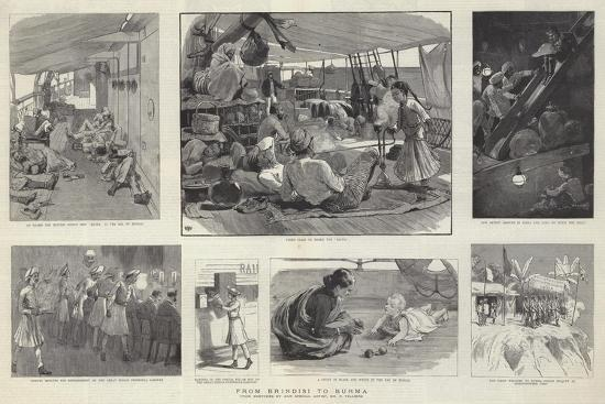 From Brindisi to Burma-Frederic Villiers-Giclee Print