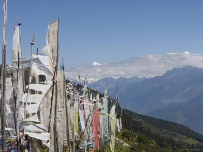 From Cheli La Pass of Bhutan's Most Sacred Mountain, Mount Jhomolhari, 7314M, Himalayas, Bhutan-Angelo Cavalli-Photographic Print