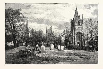 From Left to Right: All Saints' Church, the Bell Tower, Evesham Abbey, St. Laurence's Church--Giclee Print