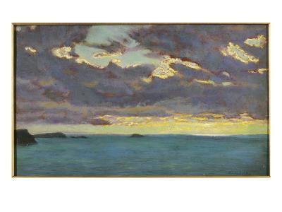 From Pentire Point (Oil on Panel)-Arthur Hughes-Giclee Print
