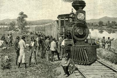 From Portland to the Yellowstone Park. a Breakdown on the Line 1891 Usa--Giclee Print