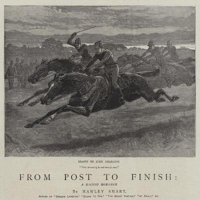From Post to Finish, a Racing Romance-John Charlton-Giclee Print