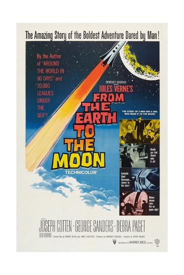 From the Earth to the Moon--Giclee Print