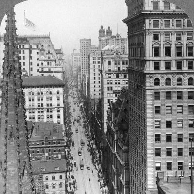 From the Empire Building Past Trinity Church Up Broadway, 1902-Underwood & Underwood-Photographic Print