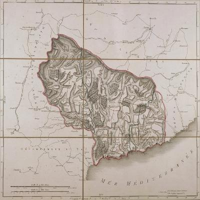 From the Maritime Alps District, Map from the National Atlas of France, Paris 1802.--Giclee Print
