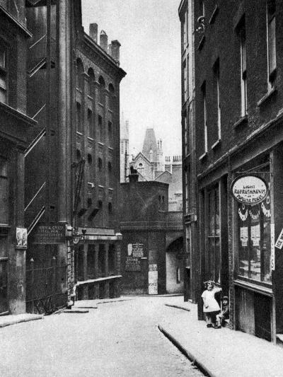 From the Old Bailey Looking Down the Hill of Fleet Lane, London, 1926-1927--Giclee Print