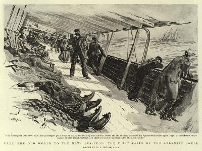 From the Old World to the New, Sea-Legs, the First Taste of the Atlantic Swell-William Lionel Wyllie-Giclee Print