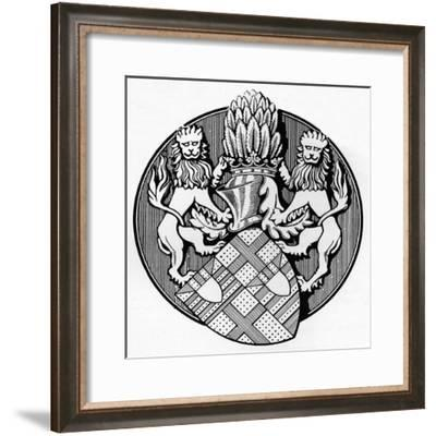 'From the Seal of the Earl Edmund de Mortimer, 1400', c1926-Herbert Norris-Framed Giclee Print
