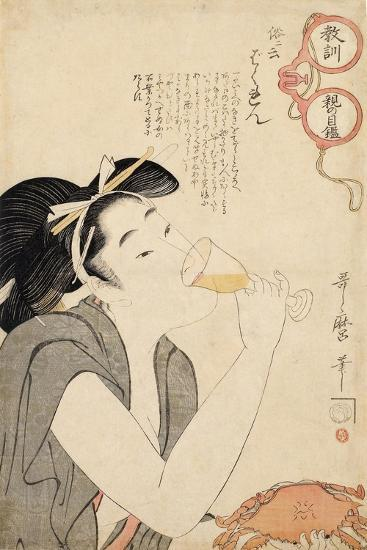 From the Series a Parent's Moralising Spectacles, 1802-Kitagawa Utamaro-Giclee Print