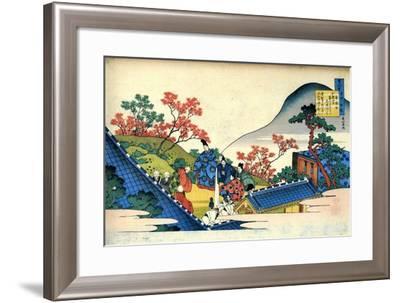 From the Series Hundred Poems by One Hundred Poets: Fujiwara No Tadahira, C1830-Katsushika Hokusai-Framed Giclee Print