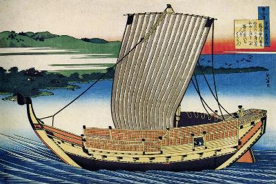 From the Series Hundred Poems by One Hundred Poets: Fujiwara No Toshiyuki, C1830-Katsushika Hokusai-Giclee Print