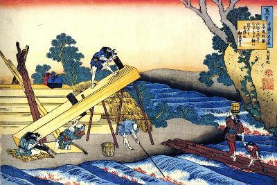 From the Series Hundred Poems by One Hundred Poets: Harumichi No Tsuraki, C1830-Katsushika Hokusai-Giclee Print