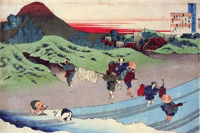 From the Series Hundred Poems by One Hundred Poets: Jito Tenno, C1830-Katsushika Hokusai-Giclee Print